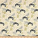 Designed by Elizabeth Olwen for Cloud 9 Fabrics this 100% GOTS certified organic cotton print fabric features a mute color design. This fabric.com exclusive is perfect for quilting apparel and home dÃcor accents. Colors include shades of blue yellow ...