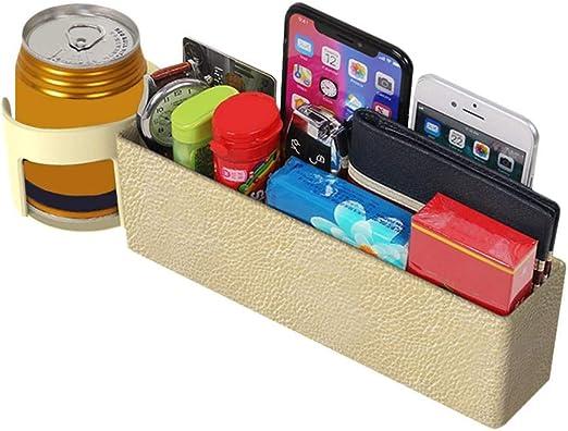 PU Leather Car Seat Pockets Filler Organizer Storage Side Console Slit Pocket