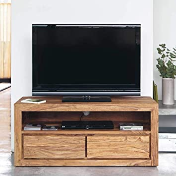 Riddhi Siddhi Home Decor Sheesham Wood Entertainment TV Unit for Living Room | Brown Finish