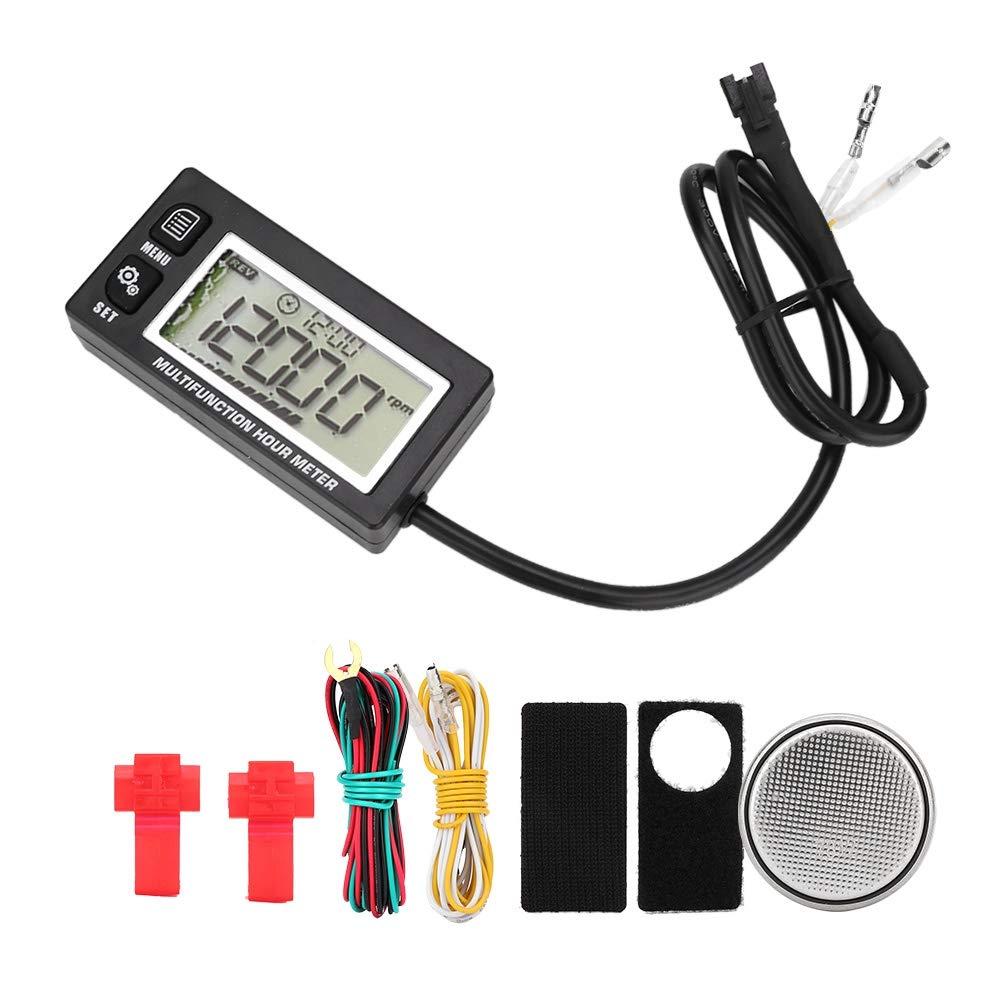 Temperature Meter, Universal LCD Digital Thermometer Tachometer Temperature Sensor Temp Hour Meter for Motorcycle ATV Boat by Dweekiy