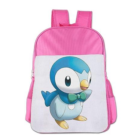 Piplup carácter personalizada Escuela Mochilas para niñas/niños mochila niños bolsa Childeren escuela mochila