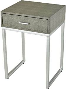 Sterling Home Les R'voires Side accent table, Gray
