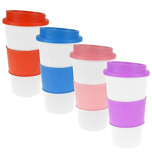 zizzi Neuf Isolation Thermique Tasse à café thé Plastique Mug de Voyage pour Plats Couvercle 450ML 453,6Gram