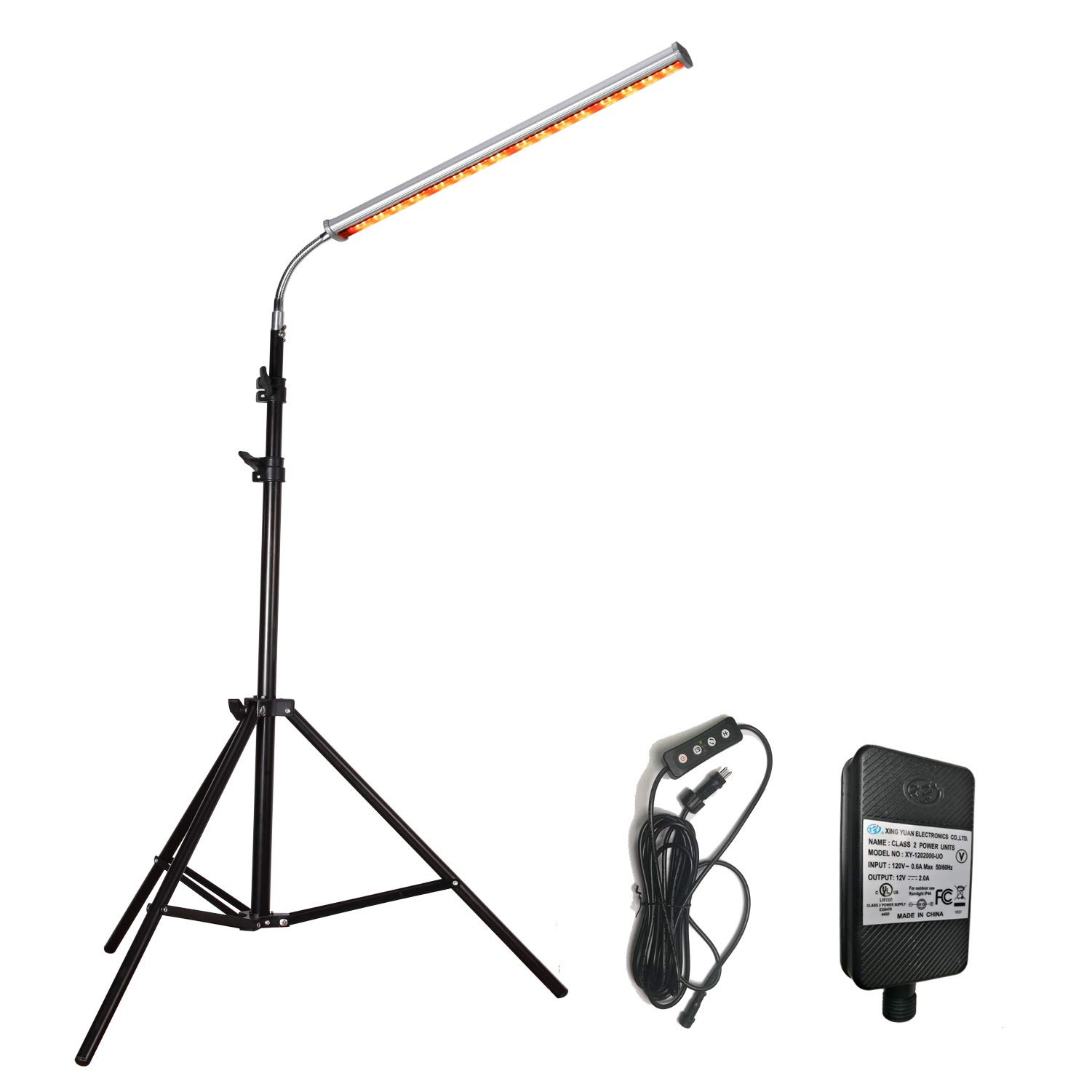 Floor Lamp LED Grow Light, Auto Turn On Timing Plant Light with Sun-Like Spectrum 3 Lighting Modes and 5 Levels of Brightness Selectable, Professional for Houseplants Seedling Growing Bloom Fruiting by DOMMIA