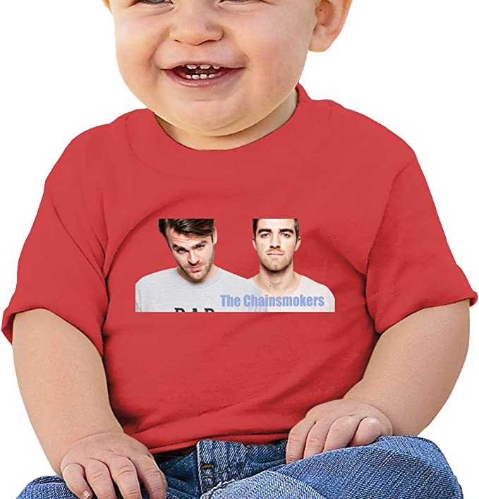 Takeyia Chainsmokers Tee Comfortable Infant Tshirts Black