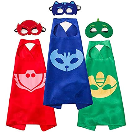 Kangcheng Unisex Boy Girl Capas y máscaras Superhero Cape y máscara Set Dress Up Costume 3PCS: Amazon.es: Productos para mascotas