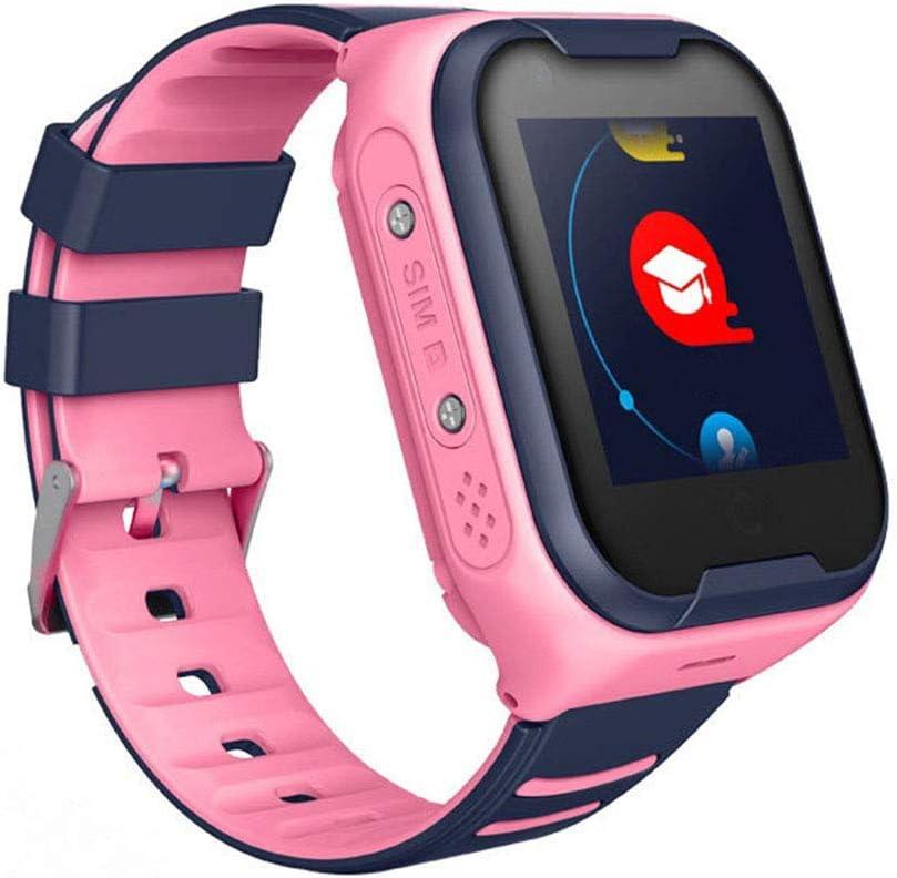 HU-Sports WatchTeléfono Smart Watch para Niños, Reloj con GPS para Niños Reloj Inteligente con Pantalla Táctil LED para Niños De 3 A 12 Años Niños Niñas, Versión En Inglés,Rosado
