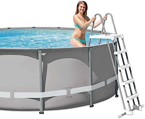 Intex 28063 Escalera con plataforma para piscinas de 132 cm ...