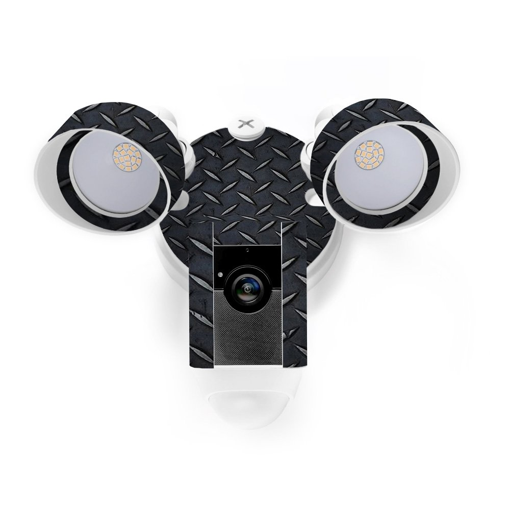 MightySkins Skin for Ring Floodlight Cam - Black Diamond Plate Protective, Durable, and Unique Vinyl Decal wrap Cover | Easy to Apply, Remove, and Change Styles | Made in The USA