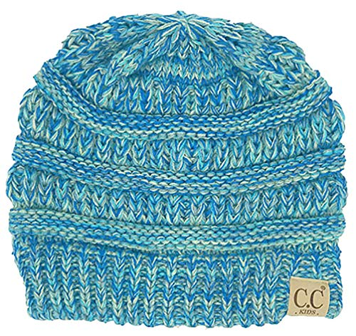 H-3847-816.11 Kids Beanie (NO POM) - Blue #15