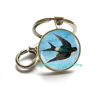 Amazon.com: Golondrina llavero, joyas de pájaro Animal ...