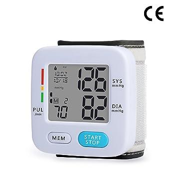 Signstek FDA - Tensiómetro electrónico de muñeca, dispositivo automático de presión arterial digital (clasificación