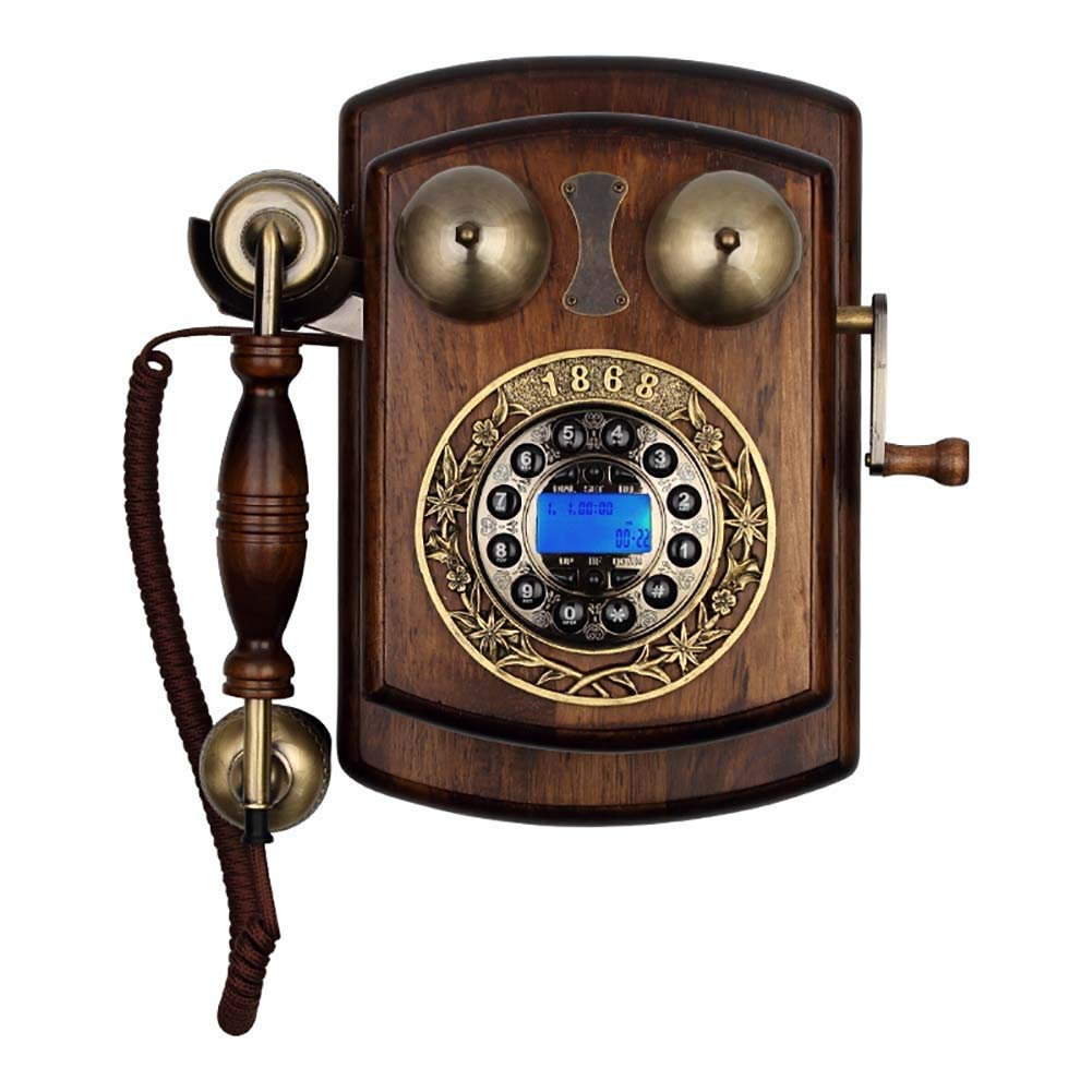 固定電話 アンティーク電話ヨーロッパプッシュボタンダイヤル固定ヴィンテージ固定電話クラシック樹脂ホームコード付き電話ハンズフリーリダイヤル機能発信者IDホームデコレーションオフィスクラフト 固定電話 (サイズ さいず : A) B07QWPQ3SL  B