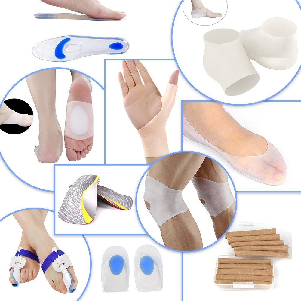 Silicone Gel Moisturizing Socks Spa Socks Remove Calluses Corns Dry Cracked Foot Skin Care Socks 3 Sizes (XL:Women:7-10 // Men:6-8.5)