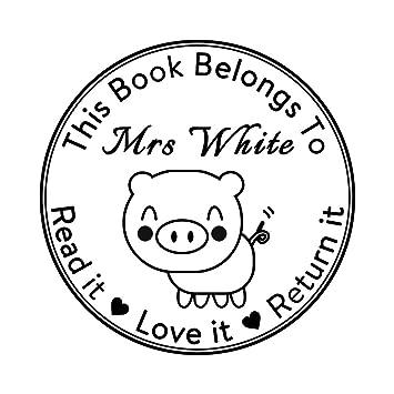 Amazon Com Personalised Self Inking Return Teacher Stamp