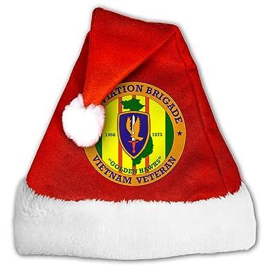 db17d2cfee809 Amazon.com  SDANWZZ 1st Aviation Brigade Vietnam Veteran Unisex Childrens  Adults Santa Holiday Hat  Clothing