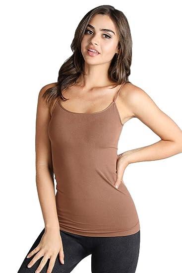 a45190cfebdb0 Nikibiki Womens Seamless Signature Camisole Cognac at Amazon Women s  Clothing store