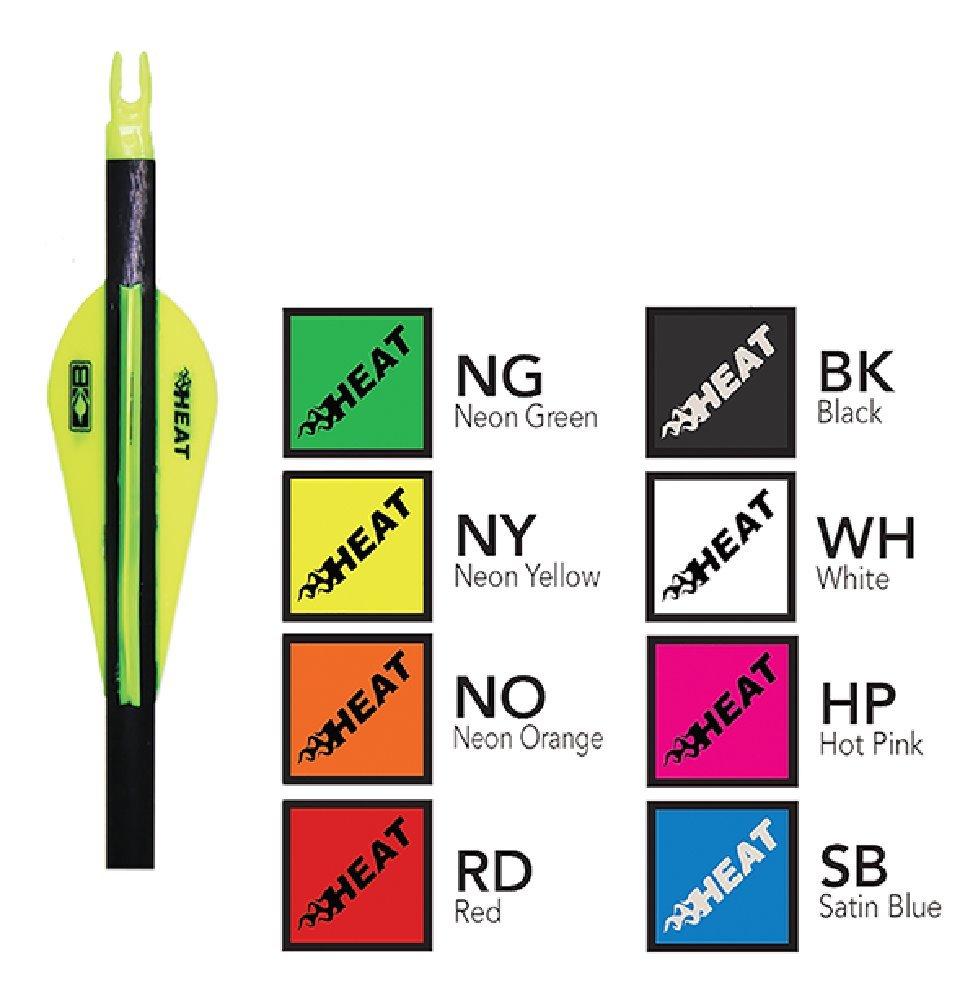 Bohning 2.5'' Heat Vanes Neon Yellow 2.5'' Heat Vane, 100pk