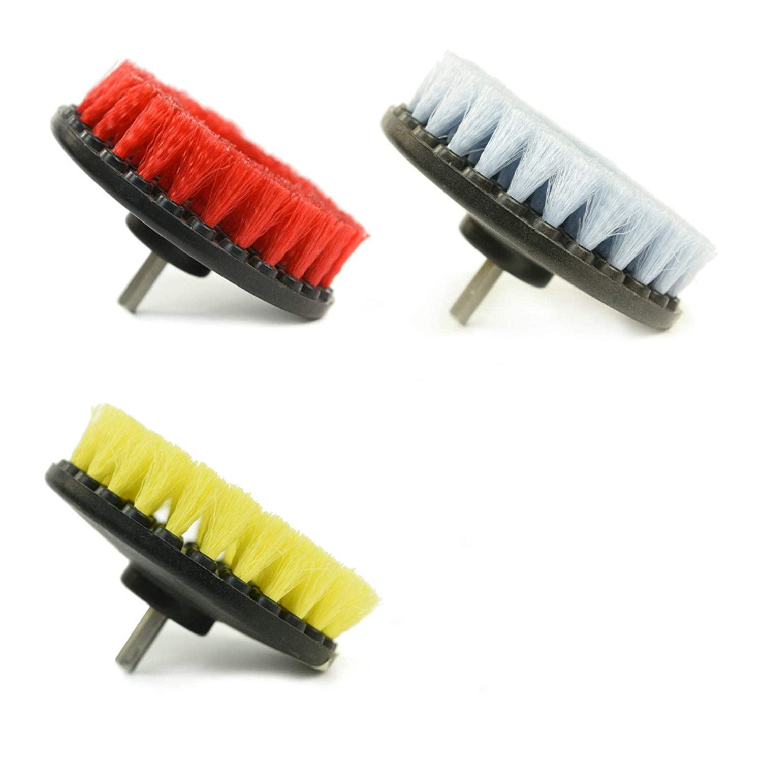 Pack of 3 5558970658 3 Colors CARCAREZ Heavy Duty Carpet Brush with Drill Attachment