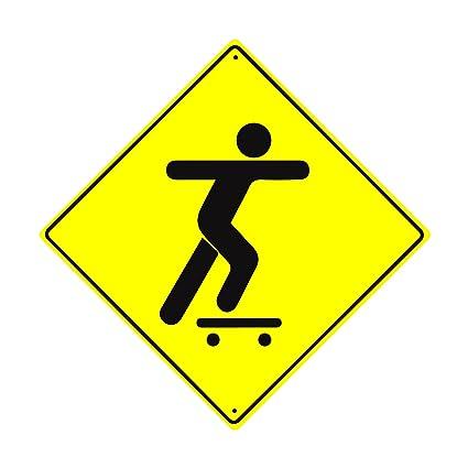 Amazon.com : Skateboard Xing Crossing Road Metal 12\