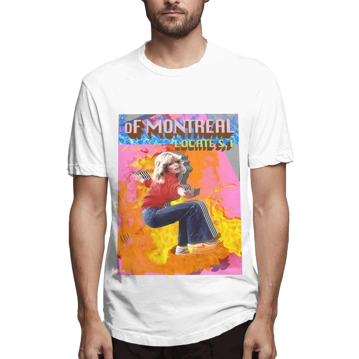 Lihehen S Of Montreal Retro Printing Round Neck Shirts