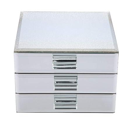 amazon com estink jewelry box 3 layers mirrored jewelry box