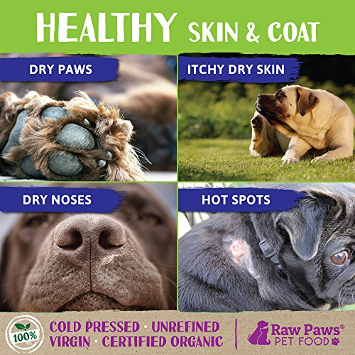 Raw Paws Organic Virgin Coconut Oil for Dogs & Cats, 16-oz - Supports Immune System, Digestion, Oral Health, Thyroid - All Natural Allergy Relief for Dogs, Hairball Control, Tick Flea Control for Dogs