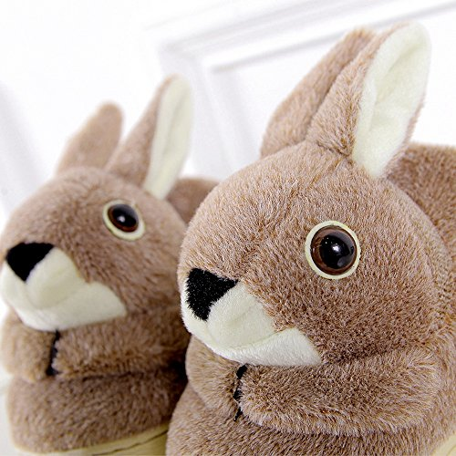 Rabbite Adulto Antideslizante Zapatillas De Interior Cálido, Encantador De Dibujos Animados De Invierno Suave Botines Acogedores Borroso Felpa Mulas Dormitorio Casero Conejo