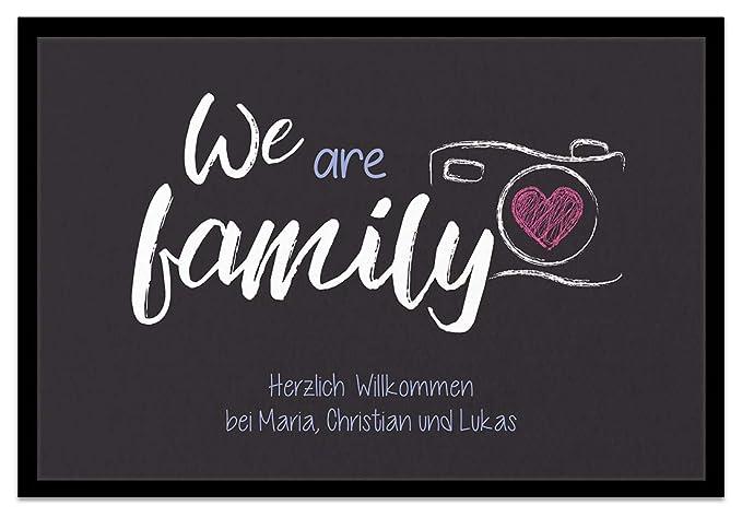 Amazon De Creativgravur Fussmatte We Are Family Inkl Ihrem Namen