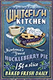 Whitefish, Montana - Huckleberry Vintage Sign (9x12 Collectible Art Print, Wall Decor Travel Poster)
