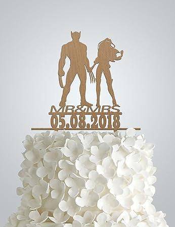 X men wedding cake toppers