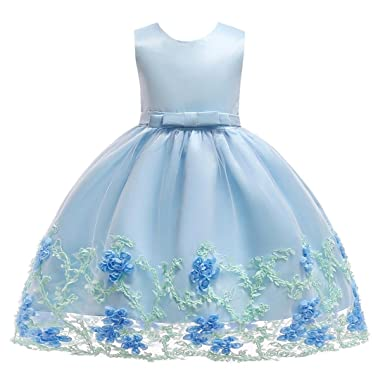 Vincent&July Flower Baby Girls Tutu Dress Sleeveless Bowknot Formal Party Wedding Dresses (2T(1