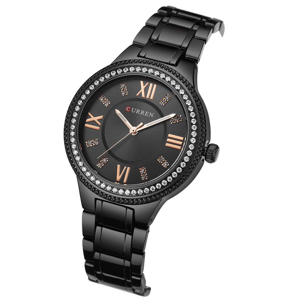 CURREN Original Women s Girls Sports Waterproof Stainless Steel Quartz Wrist Watch 9004