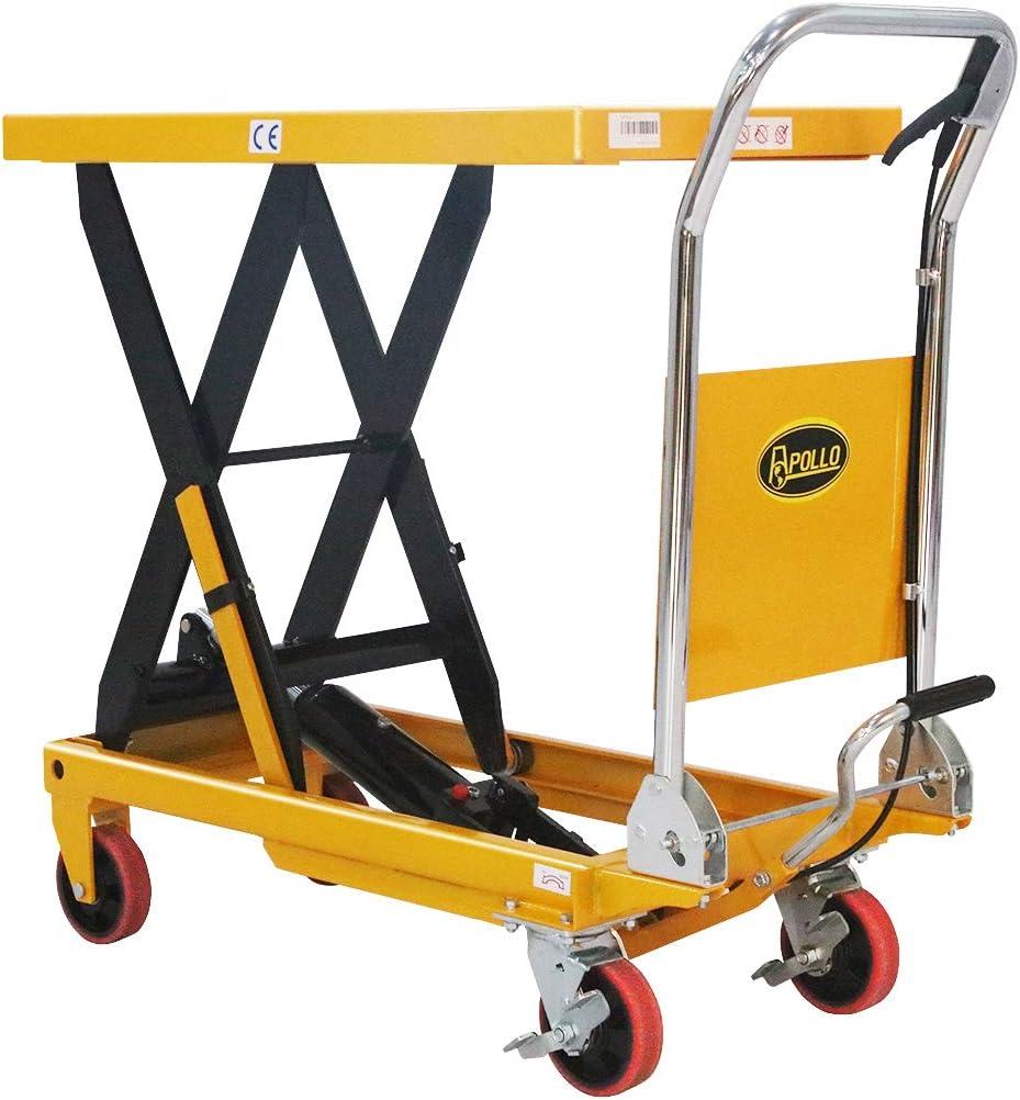 APOLLOLIFT Lawn Mower Cart Hydraulic Single Scissor 660lbs Capacity Lift Table