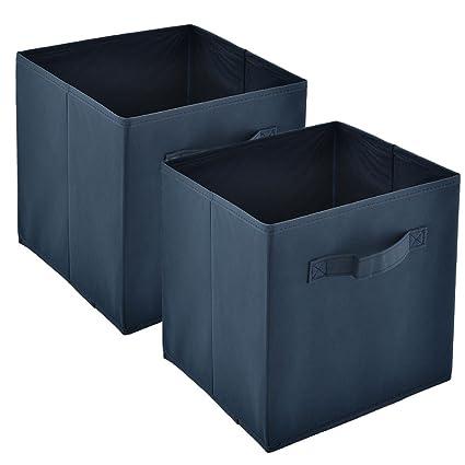 Heselian Foldable Fabric Drawer, Basket Bin Organizer Storage Bin, Cube  Organizers, 2Pack,