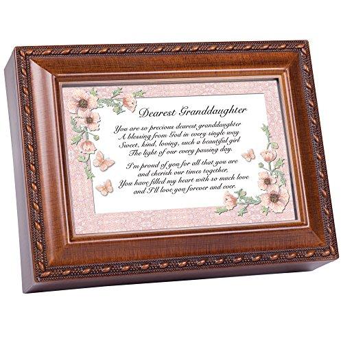 Cottage Garden Dearest Grandduaghter Music Box Gift MB681 (Music Granddaughter Box)