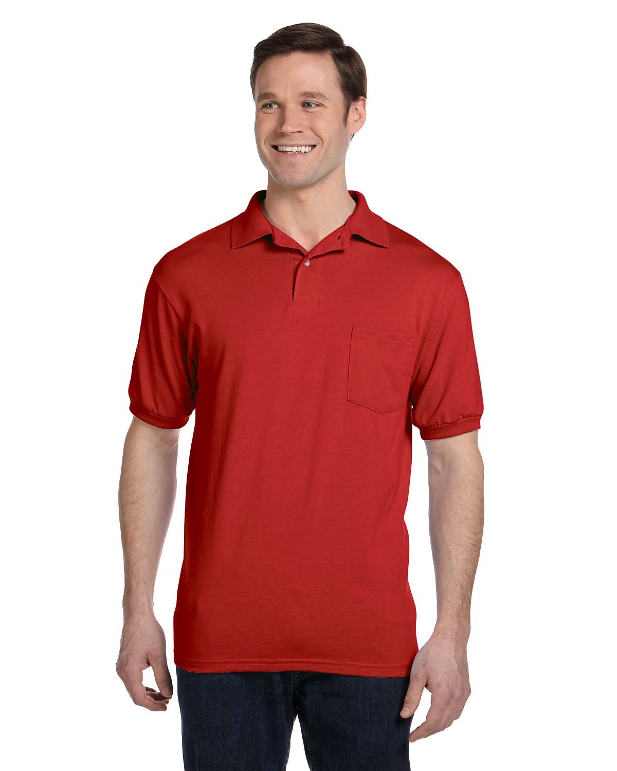 Hanes SHIRT メンズ B005GR0TZI 2XL US (Chest 50-52)|Deep Red Deep Red 2XL US (Chest 50-52)