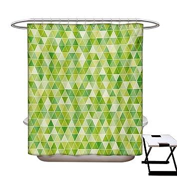 Amazon.com: Cortina de ducha verde lima de limón y lima con ...