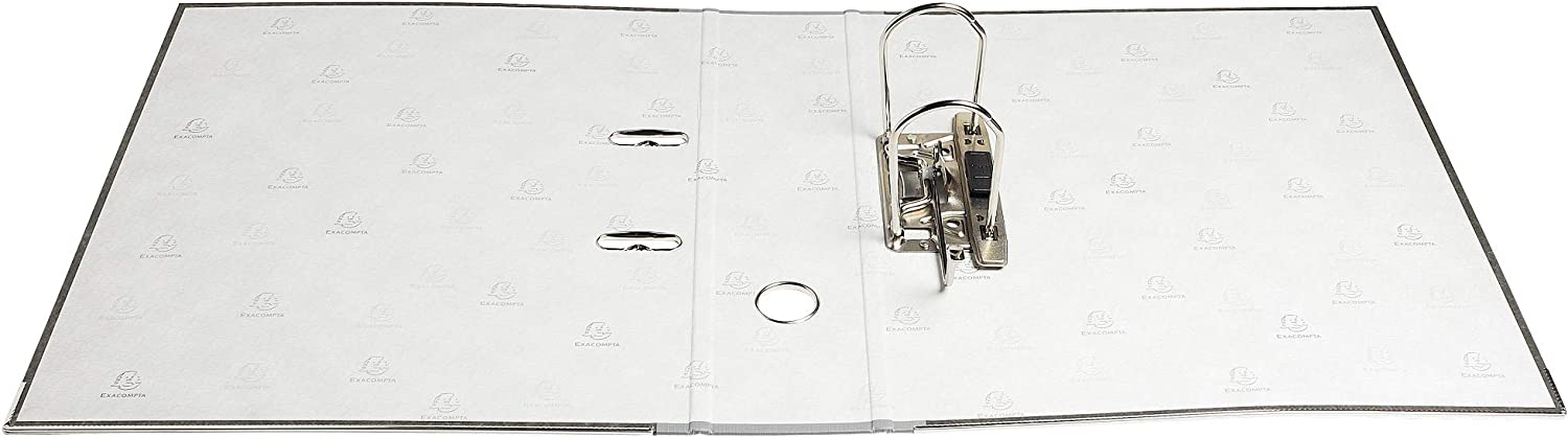 Exacompta 53710E 2-Ring Lever Arch File A4 with 70 mm Spine Set of 20 PVC and Marbled Paper Grey