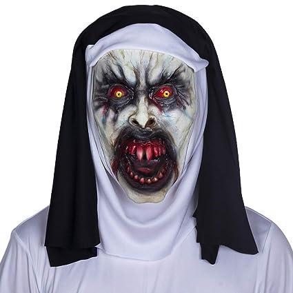 Capucha De La Máscara De La Monja Terrorista, Látex Respetuoso del Medio Ambiente Es Flexible