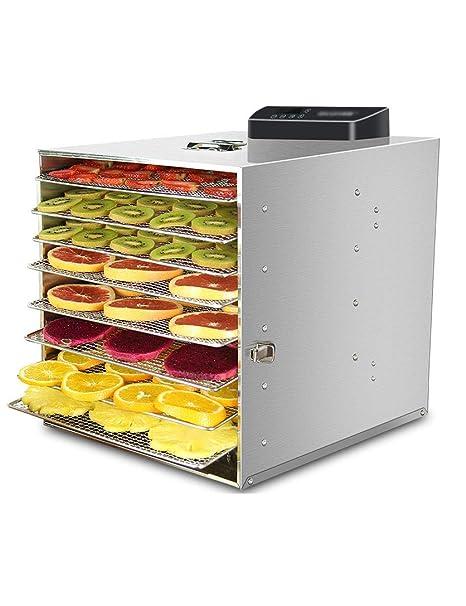 PWhgj Secador de Frutas Digital, Mini Deshidratador de Alimentos, Función de Mantenimiento de Frescos