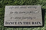 Sandblast Engraved Decorative Stepping Stone Inspirational Dance In The Rain For Sale
