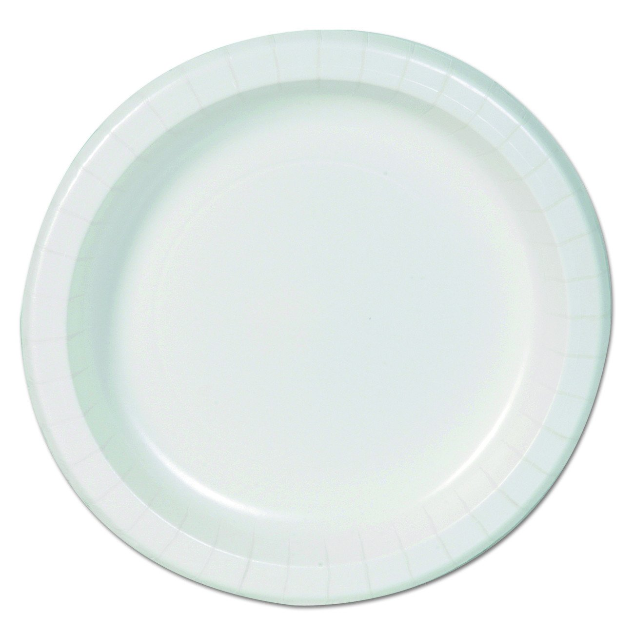 "Dixie Basic DBP09W Basic Paper Dinnerware, Plates, 8.5"" Diameter, White (Pack of 500)"