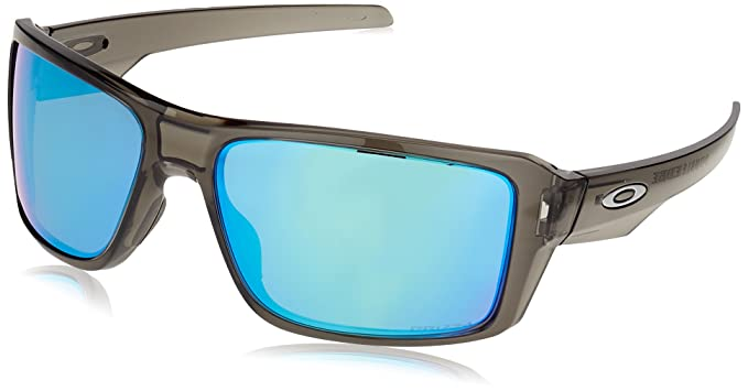 789b173472 Oakley Men s Double Edge Polarized Iridium Rectangular Sunglasses GREY  SMOKE 66 mm