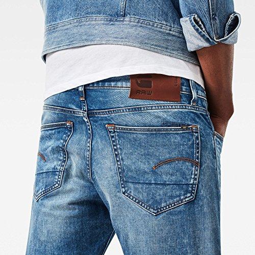 RAW Hombre Pantalones STAR 424 Vaqueros Aged Lt para Delgados Azul G f1Aawq5x