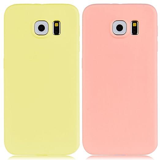 32 opinioni per 2x Custodia Samsung Galaxy S6, Yokata Gel Silicone TPU Morbido Cover Elegant