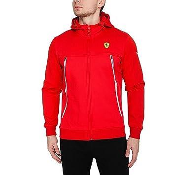 Sudadera Puma Ferrari, para hombres, con capucha y cremallera (761834) Rojo Rosso Corsa Large: Amazon.es: Ropa y accesorios