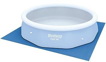 Bestway 58001 - Tapiz de suelo de 335 x 335 cm, azul