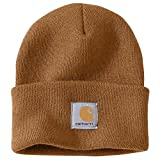 : Carhartt Men's Acrylic Watch Hat,Brown,One Size