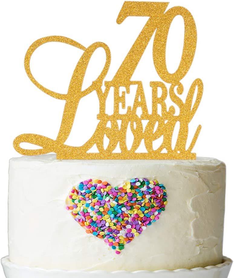 Awesome Amazon Com 70 Years Loved Cake Topper Cheers To 70 Years Cake Funny Birthday Cards Online Aboleapandamsfinfo